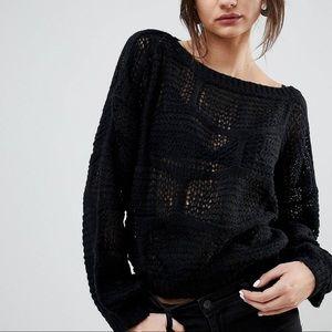 NWOT Lavand cobweb sweater